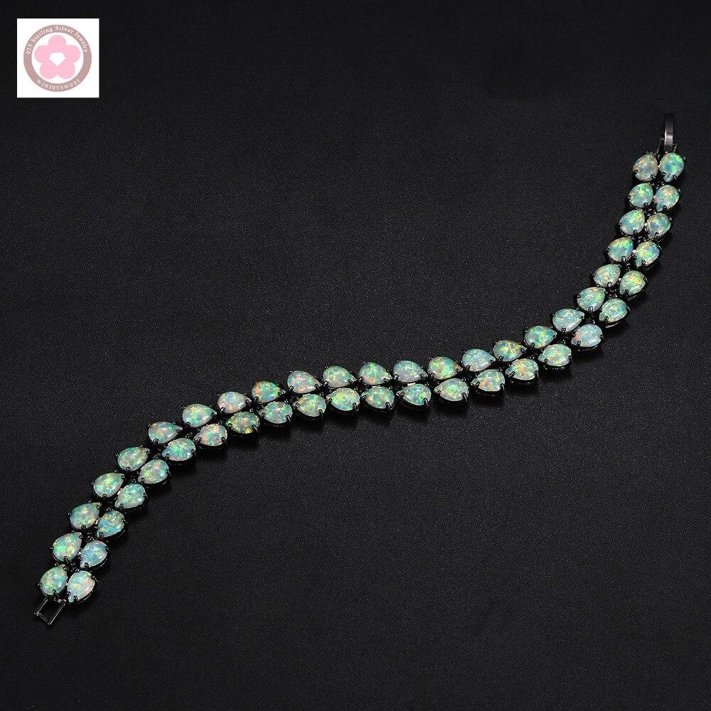 SZ0007 offre spéciale or noir rempli AAA opale de feu incrusté Bracelet de mode pour les femmes bijoux cadeau - 2