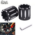 2 unids Eje Delantero Tapa Tuerca De Aluminio CNC RC Áspera Artesanía Perno de la Tuerca Del Eje trasero Kit Para Harley Davidson VRSC XG XL