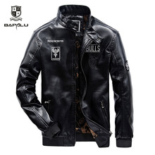 leather jacket men casual leather jacket men's Slim stand co