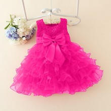 Lace flower girls wedding dress baby girls
