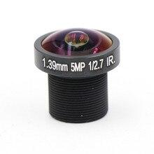 Рыбий глаз 1,39 мм объектив 5,0 мегапикселя широкоугольный 180 градусов MTV M12 x 0,5 крепление инфракрасный объектив ночного видения для камеры видеонаблюдения