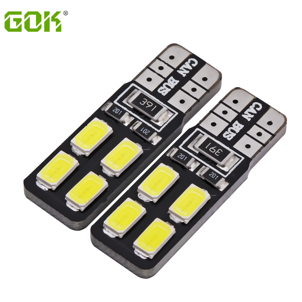 Super Bright! 10 X T10 W5W led canbus T10 8smd 194 168 5630 5730 SMD Canbus NO ERROR Car Auto Bulbs Indicator Light Parking Lamp high t10 canbus 10pcs t10 w5w 194 168 5630 10 smd can bus error free 10 led interior led lights white 6000k canbus 300lm