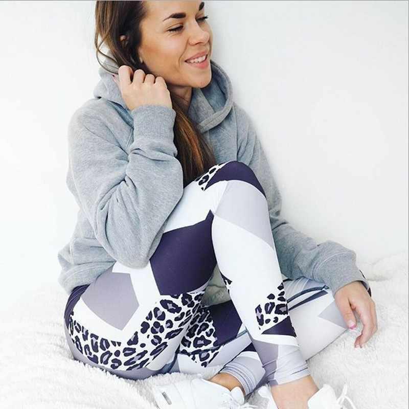 Imprimir Leggings Esportivos Para As Mulheres Roupas de Cintura Alta Calças de Treino de Fitness Activewear Feminino Leggings Jeggings Quick Dry 3056