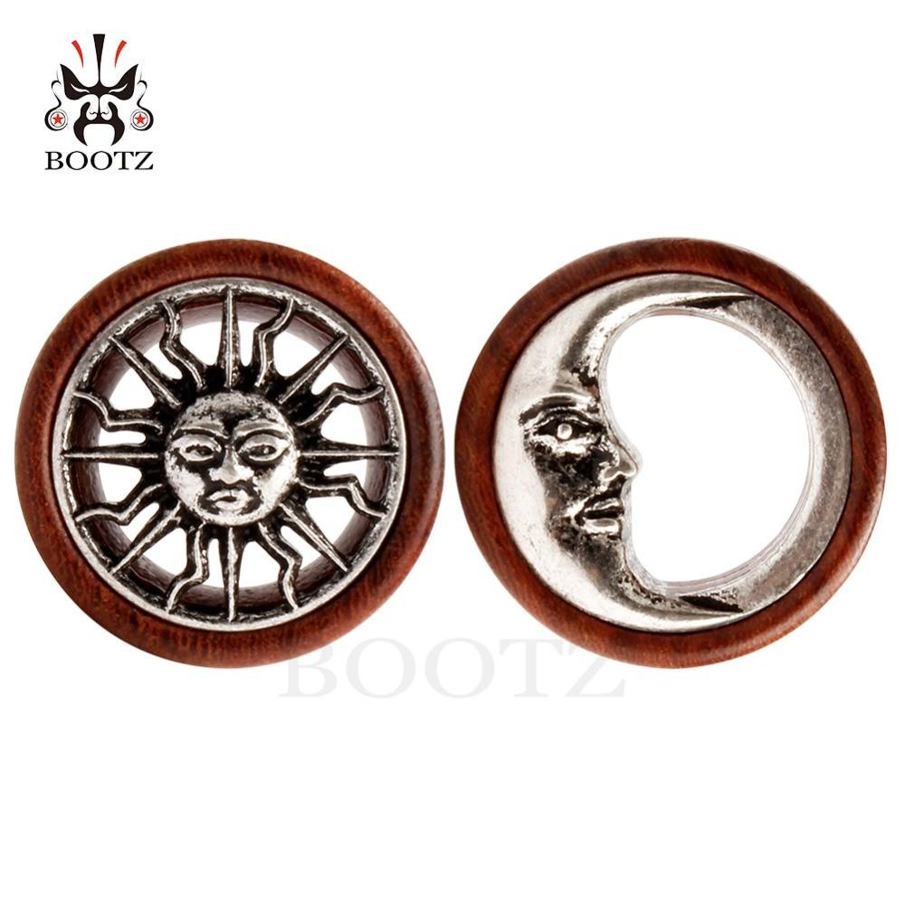 KUBOOZ 2PCS Ασύμμετρη Ξύλο αυτί Piercing - Κοσμήματα μόδας - Φωτογραφία 2