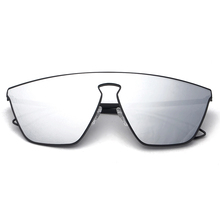 Geometric Integrated Futurism Men Women Sunglasses Mirrored Lenses Designer Brand New Glasses Oculos De Sol Fashion S30035