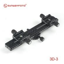 SUNWAYFOTO 3D 3 Tripod Head 3D Stereo Stereoscopic Dual Cameras 4 Pieces Kit Professional Tripode Heads