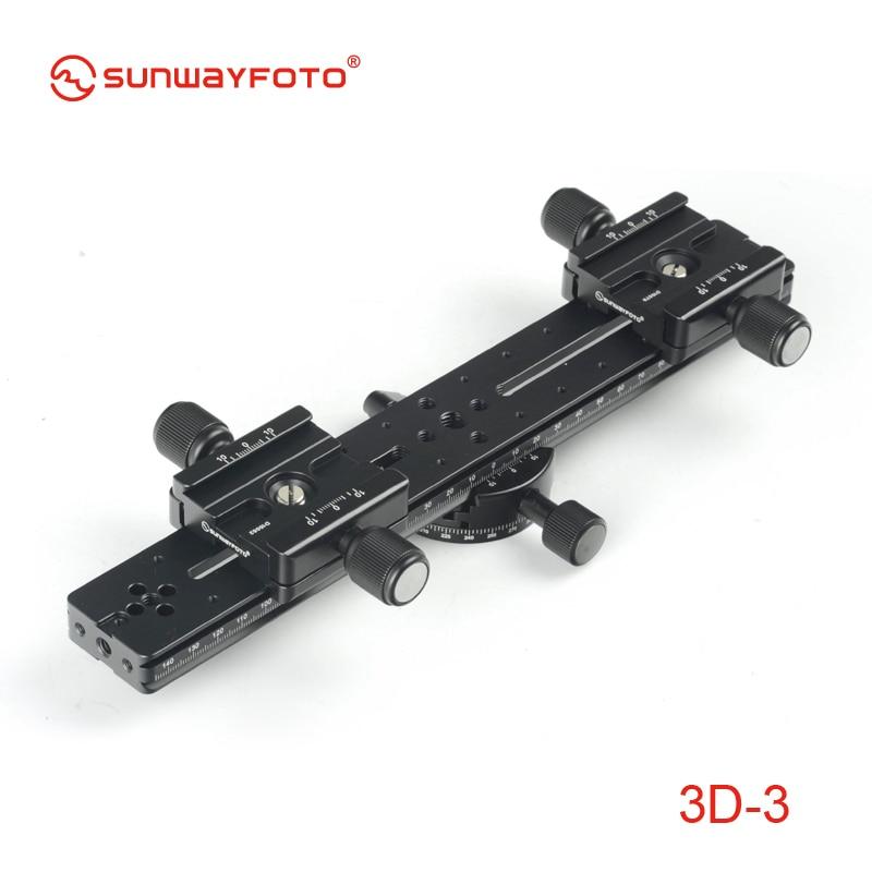 SUNWAYFOTO 3D 3 font b Tripod b font Head 3D Stereo Stereoscopic Dual font b Cameras