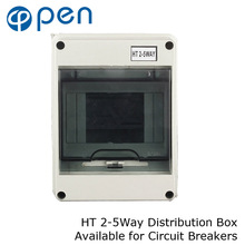 цены HT Series 5Way IP66 Waterproof and Moistureproof Distribution Box for Circuit Breakers Indoor on the Wall