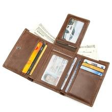 J.M.D Genuine Leather Mens Wallet Credit Card Holder RFID Blocking Brifold R-8105C