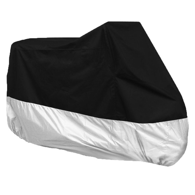 Motorcycle Accessories Motocycle Covers Waterproof Outdoor UV Protector Rain Dustproof Black&Silver XL Covers for All Motorcycle