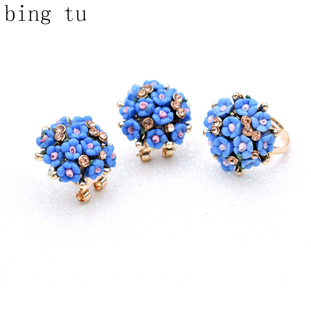 Blue Floral Jewelry