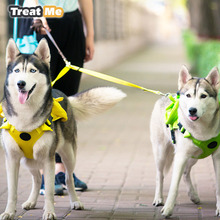 Pet Correas Para Perros Doble Tracción Durable Tela de Nylon correa de Perro Caminar Al Aire Libre Accesorios Para Perros Mascotas Suministros Ajustable Correas