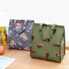 Tote-Bag Lunch-Bag Food Picnic Insulated Oxford Waterproof Reusable Floral Folding