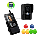 Mini Wireless Video Door Phone Intercom Door Camera monitor door bell video recording take photo sd card 4GB RFID keyfobs unlock
