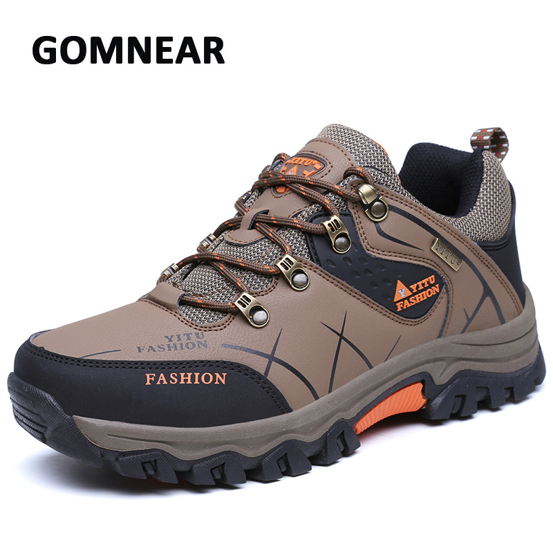Hiking Shoes Men Dynamic Waterproof Outdoor Classic Style Tourism Trekking Sneakers Antiskid Breathable Anthletic Boots GOMNEAR