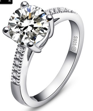 Rings For Women Silver 925 Gifts Rhinestone Rings Jewellery Korean Style Women Weding Rings