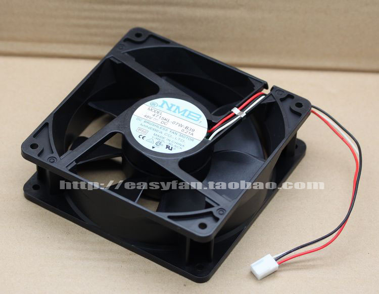 NMB-MAT  4715KL-07W-B39 P50 DC 48V 021A    120x120x38mm Server Square fan
