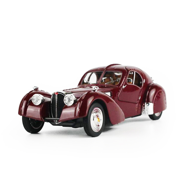 bugatti vintage cars 128 alloy car model toys diecasts toy vehicles collection kids