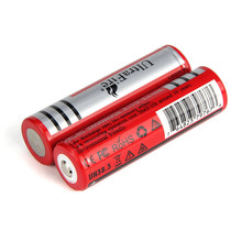 2PCS 18650 batteries High Quality 3.7V 2600MAH Lithium-ion rechargeable  flashlight lithium battery Free