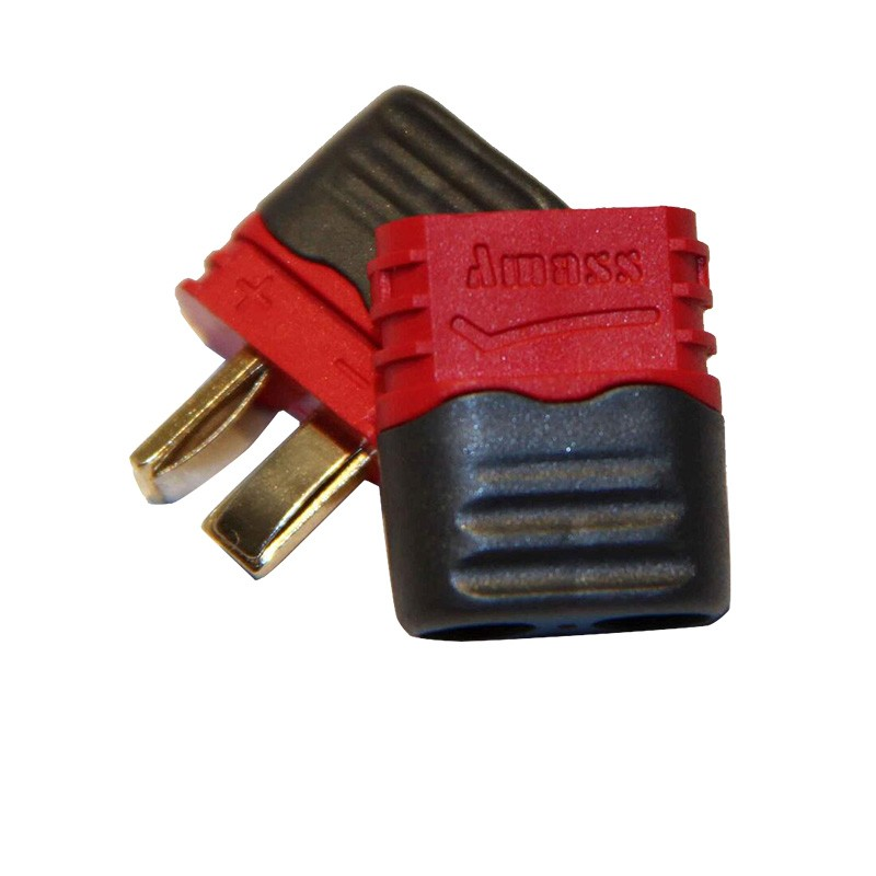 2~20pair T plug Amass Deans Connector With Sheath Housing T shape Connector Plug male female for RC airplane Lipo Battery