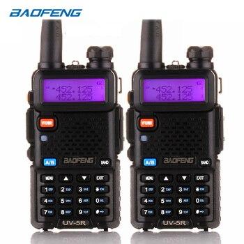 BaoFeng walkie talkie UV-5R 2pcs/lot two way radio baofeng uv5r 128CH 5W VHF UHF 136-174Mhz & 400-520Mhz baofeng walkie talkie uv 5r 2pcs lot two way radio baofeng uv5r 128ch 5w vhf uhf 136 174mhz