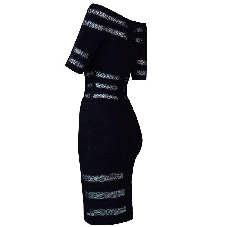 De Nouvelle Celebrity Maille Épaule Manches Robe Designer Courtes Arrivée Sexy Off Mode Bandage 2018 w8vmNnO0