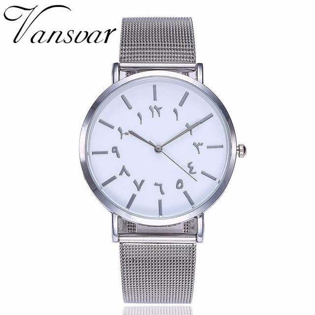US $2 99 30% OFF|Hot Fashion Unique Women Arabic Numbers Watch Casual  Stainless Steel Mesh Belt Quartz Wrist Watch Relogio Feminino Drop  Shipping-in