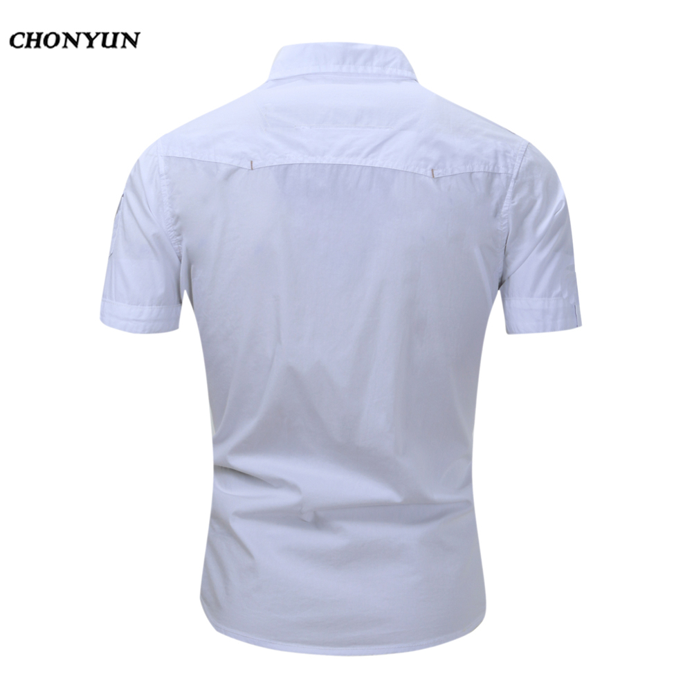 Business Men'S Slim Fit short Sleeves Casual Shirt 5