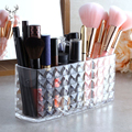 3 сетки прозрачный акриловый держатель для ручки органайзер для макияжа Геометрическая Алмазная ручка карандаш органайзер для макияжа ящи...
