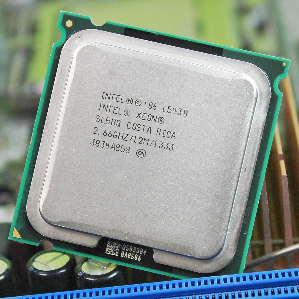 INTEL XEON L5430 LGA 775 INTEL L5430 CPU 771 to 775 (2.660GHz/12MB/1/Quad Core) 775 motherboard warranty 1 year