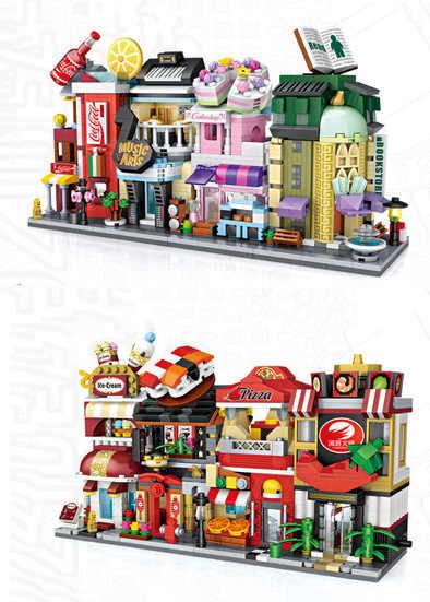 2018 Nieuwe Loz Mini Blokken City View Scène Koffie Winkel Winkel Architecturen Modellen Building Quiz Kerstmis Speelgoed Voor Kinderen