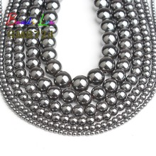 Natural Stone Black Hematite Round Loose Beads 2mm 3mm 4mm 6mm 8mm 10mm 12mm DIY Necklace Bracelet Jewelry Making Wholesale 15'' high quality labradorite natural stone 4mm 6mm 8mm 10mm 12mm beautiful hot sale round loose beads jewelry 15 inch ge5002