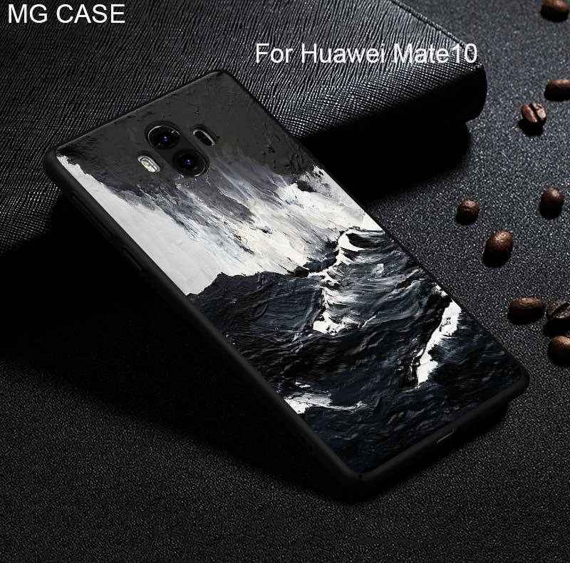 For Huawei Mate 9 10 Pro Matte Sea Ocean Wave Mountain Phone Case For Huawei Nova2 Plus Head 6 P20 P20pro P20Lite Cover Case Bag