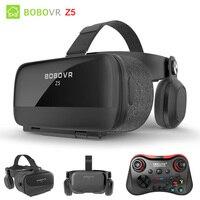 Original BOBOVR Z5 Immersive Virtual Reality Headset Stereo 3D Glasses VR Cardboard Helmet 120 FOV for 4.7 6.2' Smartphone