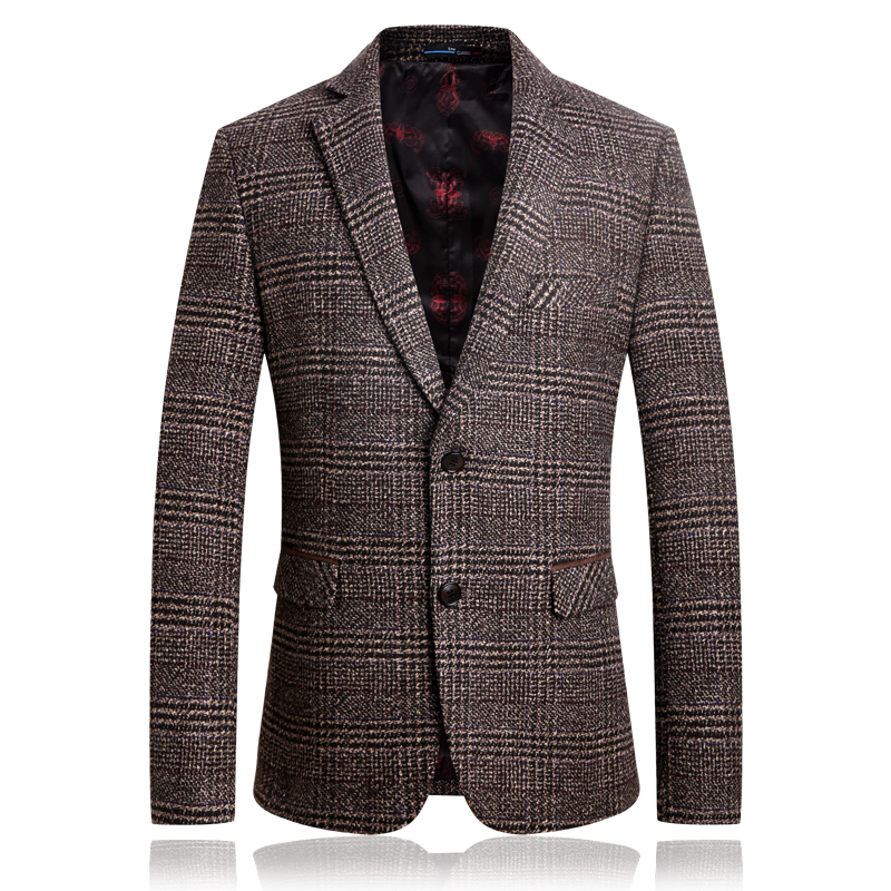 2018 Wool Business Blazer For Men Good Quality Winter Wool Casual Blazer For Men Thick Jacket Suit Men
