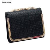 Women Candy Color Handbag Vintage Fashion One Shoulder Small Bag PU Leather Bags Women Messenger Bag