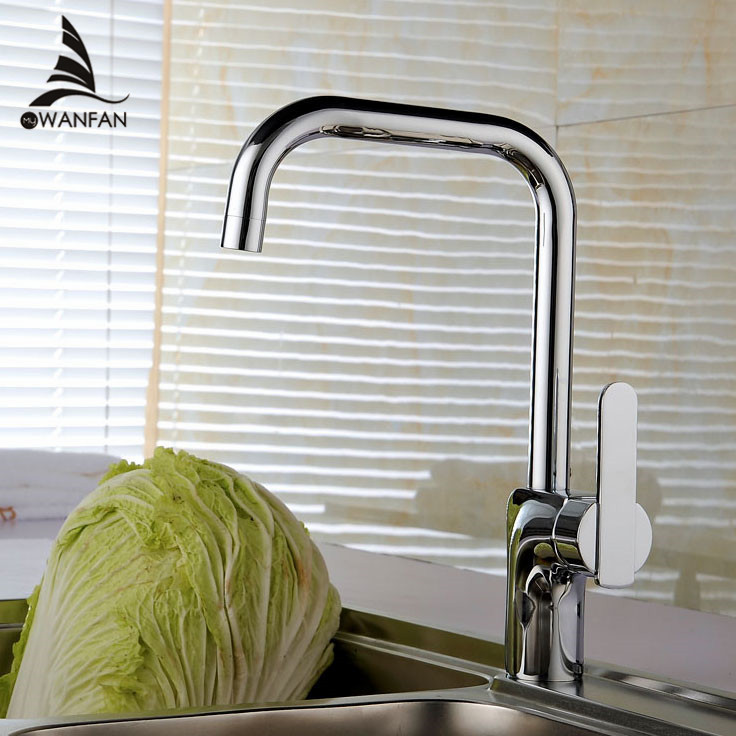 ФОТО Free shipping brand new copper chromed hot and cold water kitchen mixer faucet,kitchen sink tap,torneira cozinha  601-33