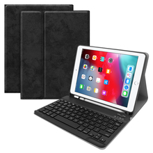 Kemile For iPad mini 5 Keyboare W pencil holder Leather Protective Case stand Cover For iPad mini 4/5 7.9 Keyboard Keypad klavye handheld protective pu leather case w holder for the new pad ipad 4 black