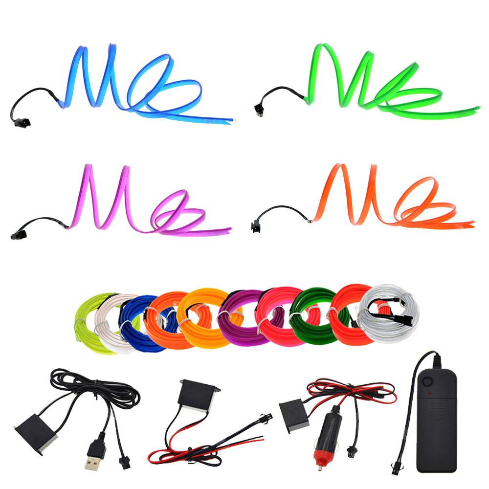 3V/5V/12V Neon Light 6mm Sewing Edge EL Wire Led Dance Party Decor Car Lights Neon LED lamp Flexible 2.3MM Rope Tube LED Strip new arrival colorful neon led bulbs melbourne shuffle dance costume night lamp el wire bright ghost step suit for concert party