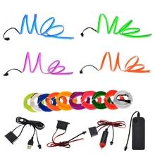 цена на 3V/5V/12V Neon Light 6mm Sewing Edge EL Wire Led Dance Party Decor Car Lights Neon LED lamp Flexible 2.3MM Rope Tube LED Strip