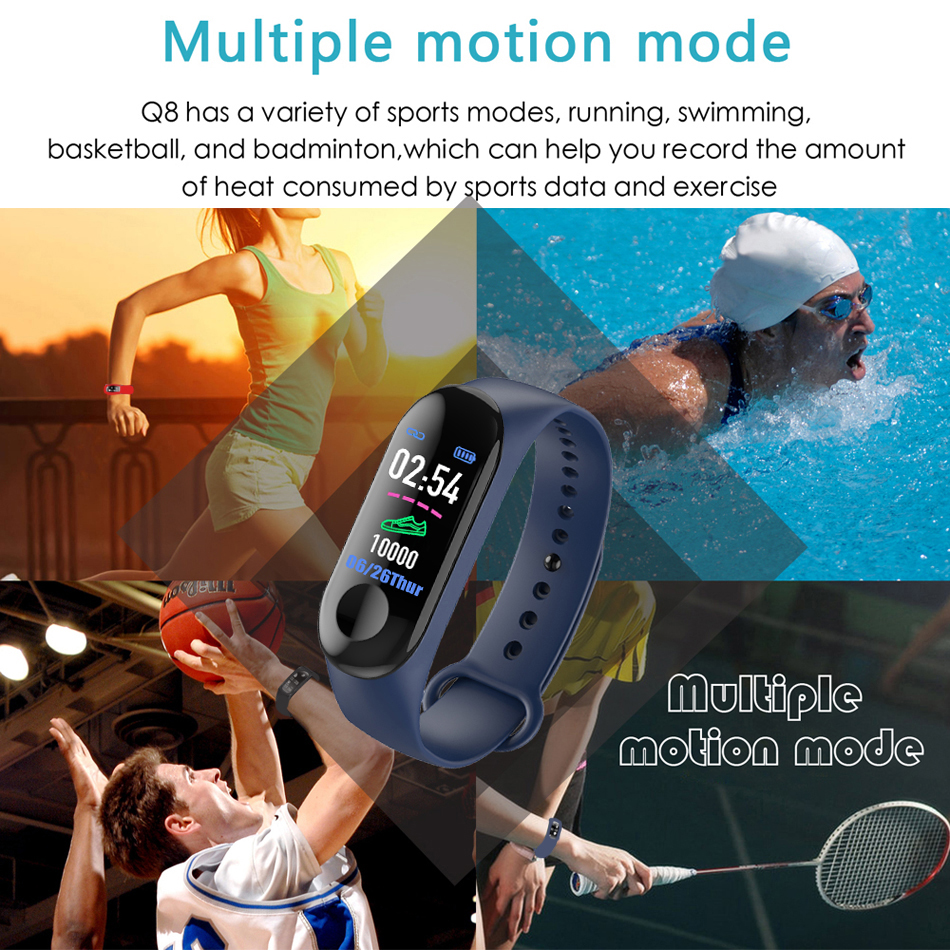 18 New Sport Waterproof Smart Bracelet Blood Pressure Monitor Smart band Fitness Tracker Pedometer Smart Wristband PK mi band 2