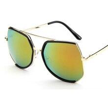 b8f2374f1c 2019 Fashion Vintage Large Frame Polygon Metal Steampunk Sunglasses Men  Women Grey Ant Sun glasses oculos