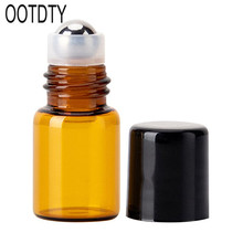 Mini Empty Glass Rolling Ball Bottle Essential Oil Perfume Liquid Container Refillable Travel Tool цена в Москве и Питере