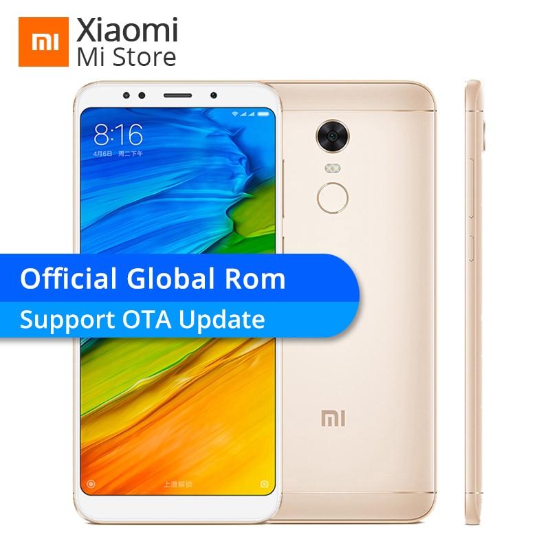 "Official Global Rom Xiaomi Redmi 5 Plus 3gb 32gb Rom Mobile Phone 5.99"" 18:9 Full Screen Snapdragon 625 Octa Core 4000mah Miui 9"