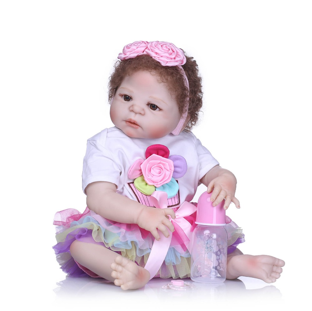 все цены на NPKCOLLECTION NewBorn Baby Girl Dolls 55cm Realistic Reborn Dolls Silicone Vinyl Full Body Alive bebe Boneca Reborns Kids Toys