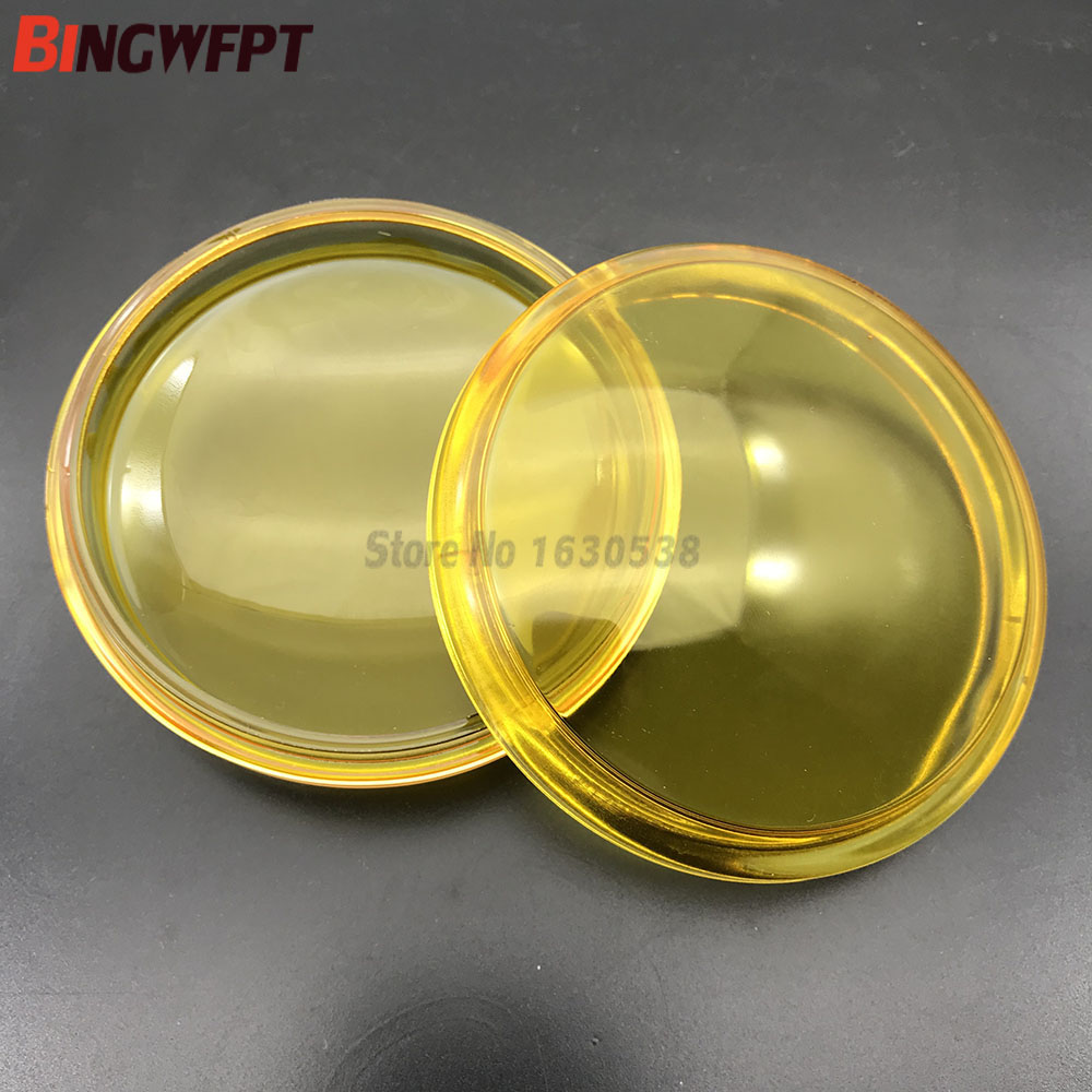 2pcs Round Diameter 90mm Fog Lights Lamps yellow Anti-fog Glass Tempered Glass For <font><b>Peugeot</b></font> 207 208 301 307 407 <font><b>607</b></font> 3008 MPV image
