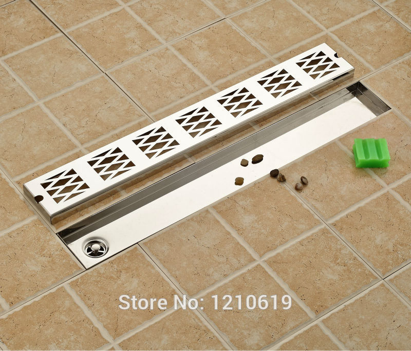 Newly Rectangle Bathroom Balcony  Floor Drain Shower Strainer Stainless Steel Chrome Floor Filler 70*10cm motorcycle cnc right side engine case cover protector guard for ktm sxf450 2016 2017 2016 2017 16 17 excf450 2017