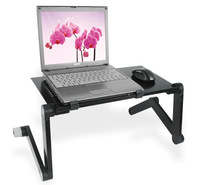 Ergonomic TV Bed Laptop Tray PC Table Portable Adjustable Aluminum Laptop Desk Stand Notebook Table Desk Stand With Mouse Pad