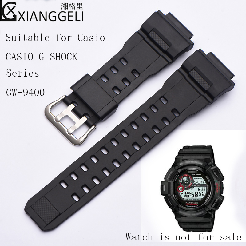 Watch Accessories Sports Rubber Silicone Strap For Casio 28mm CASIO-G-SHOCK Series <font><b>GW</b></font>-<font><b>9400</b></font> Men's Outdoor Sports Waterproof Strap image