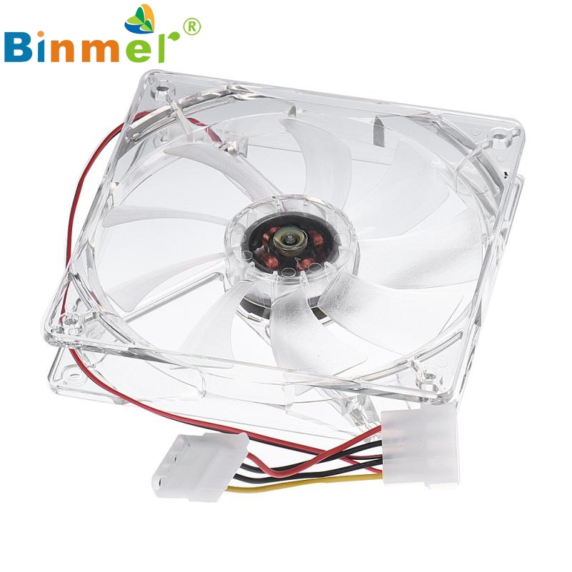 12CM CPU Cooling Fan Computer PC Clear Case Quad Heatsink fe23 mecall 8cm computer pc clear case quad cpu cooling fan